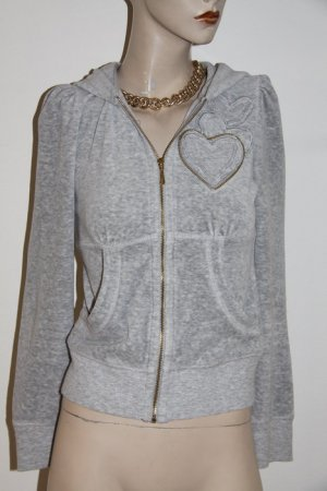 Juicy Couture Sweat Jacke mit Herz in grau Größe 34/36