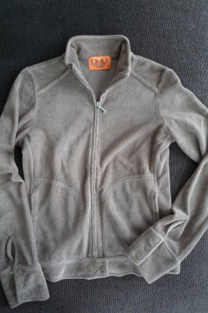 JUICY COUTURE, Sweater-Jacke i. Biker-Stil, Gr. S Farbe taupe