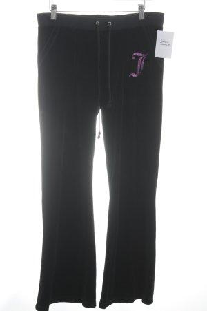 Juicy Couture Pantalon de jogging noir-rose lettrage imprimé pailleté