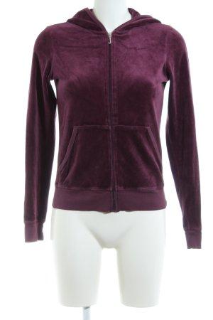 Juicy Couture Sweatjacke lila Motivdruck Casual-Look