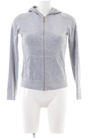 Juicy Couture Sweatjacke hellgrau-weiß meliert sportlicher Stil