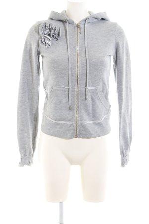 Juicy Couture Chaqueta de tela de sudadera gris claro-color plata moteado