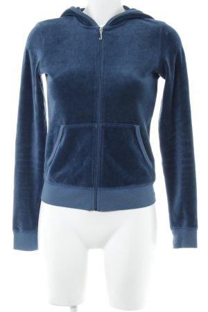 Juicy Couture Sweat Jacket slate-gray velvet appearance