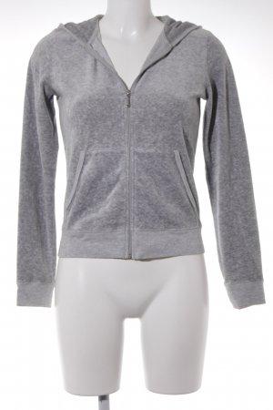 Juicy Couture Sweatjacke hellgrau-grau meliert Casual-Look