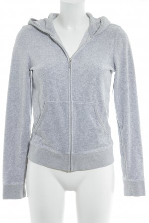 Juicy Couture Sweatjacke hellgrau meliert Casual-Look