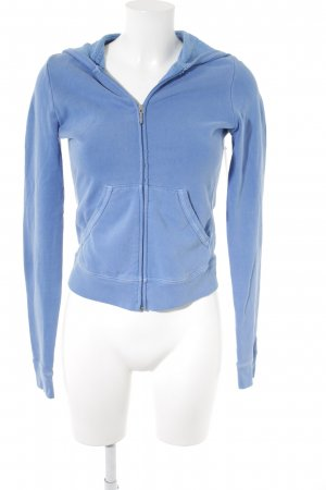 Juicy Couture Sweat Jacket cornflower blue-turquoise placed print glittery