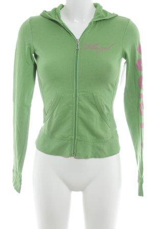 Juicy Couture Giacca fitness rosa-verde prato caratteri stampati stile casual