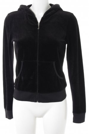 Juicy Couture Sweat Jacket black printed lettering fluffy