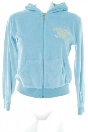 5ea6c5e30595 Juicy Couture Sweat Jacket turquoise-gold-colored embroidered lettering