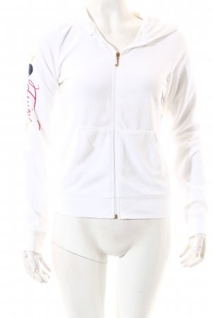 Juicy Couture Sweatjacke weiß Motivdruck Kuschel-Optik