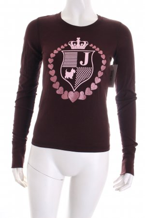 Juicy Couture Sweatshirt braunrot-hellrosa Motivdruck Casual-Look