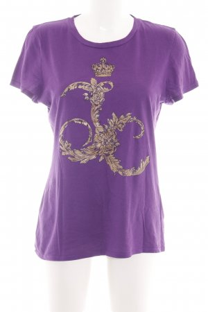 Juicy Couture T-Shirt lila Motivdruck Casual-Look
