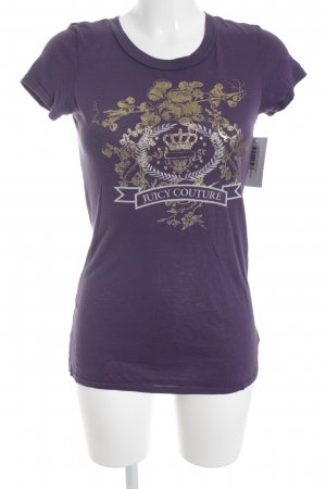 Juicy Couture T-Shirt blauviolett Motivdruck Street-Fashion-Look