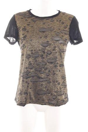Juicy Couture T-Shirt schwarz-braun Allover-Druck Casual-Look