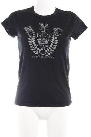 Juicy Couture T-Shirt dunkelblau-wollweiß Motivdruck Casual-Look