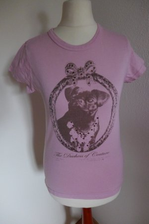 Juicy Couture T Shirt Top Hunde Short rose Gr. S glitzer