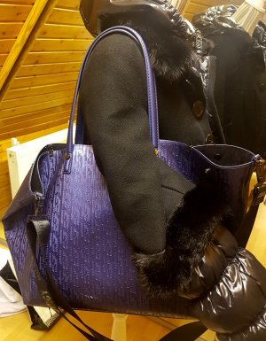Juicy Couture Tasche maxi Weekender Neverfull blau metallic