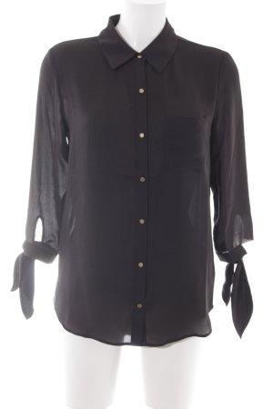 Juicy Couture Transparenz-Bluse schwarz Casual-Look