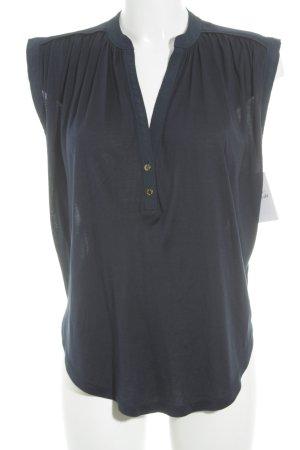 Juicy Couture Camisa con cuello V azul oscuro look casual