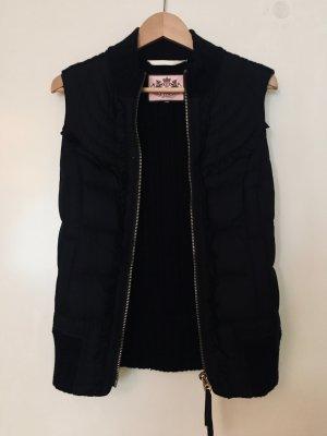 Juicy Couture Gilet en duvet noir-brun foncé