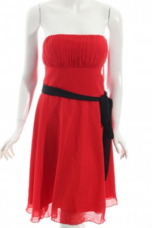 Juju & Christine Cocktailkleid rot-schwarz minimalistischer Stil