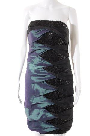Juju & Christine Cocktailkleid schwarz-türkis Farbverlauf Elegant