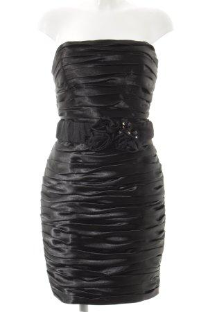 Juju & Christine schulterfreies Kleid schwarz extravaganter Stil