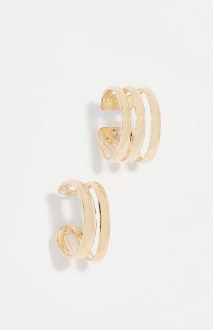 Pendientes de clip color oro