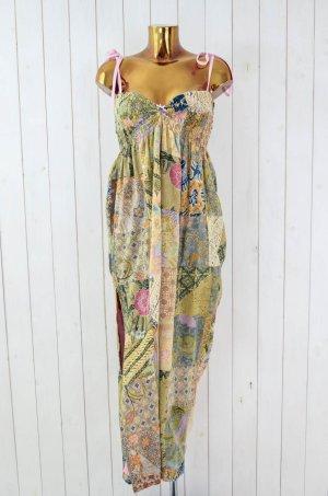 JULIA DIEHL Kleid Trägerkleid Baumwolle Sommer Maxikleid Blumen Gr.S