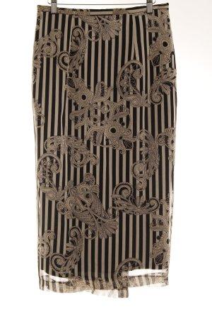 Julia Montanus Seidenrock schwarz-hellbeige florales Muster Casual-Look
