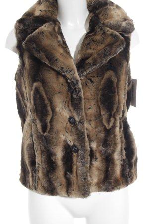 Julia S. Roma Smanicato di pelliccia motivo animale stile casual