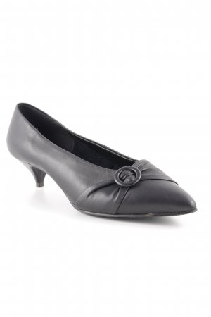 Julia van Beek Spitz-Pumps schwarz Business-Look
