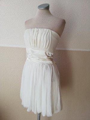 Vestido bandeau blanco-blanco puro