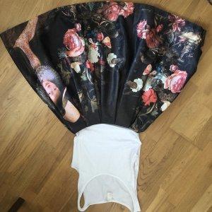 Falda de talle alto multicolor