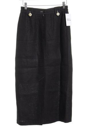 Julius Lang Trachtenrock schwarz-hellbeige schlichter Stil