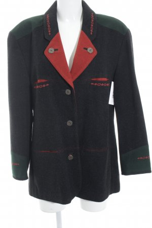 Julius Lang Wool Blazer black-red casual look
