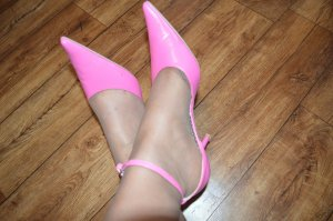 JUMELLES Damen Slingbacks Pumps pink Gr. 40