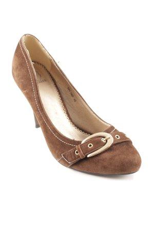 Jumelles High Heels braun-goldfarben minimalistischer Stil