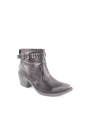 Jumex Boots schwarz Biker-Look