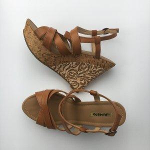 Jumex Platform High-Heeled Sandal beige-brown
