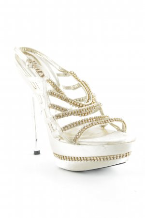 Jumex High Heel Sandaletten goldfarben-creme Party-Look