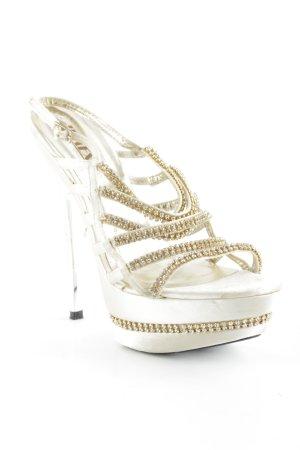 Jumex High Heel Sandaletten goldfarben-creme Party-Look