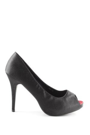 Jumex High Heels schwarz klassischer Stil