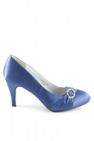 Jumex Tacones de plataforma azul elegante