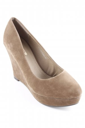 Jumex Keil-Pumps hellbraun Casual-Look