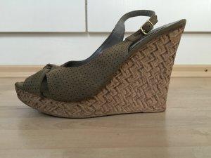 Jumex Keil-Sandaletten taupe