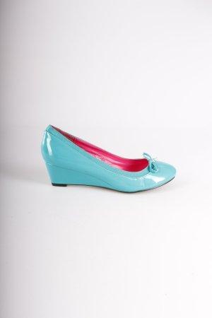 Jumex Keilabsatz-Ballerinas blaugrün