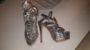JUMEX Sexy High Heels Gr. 38 15cm Absatz silber