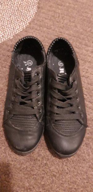 Jumex Sneaker Schnürschuhe in Lederoptik schwarz Gr.36