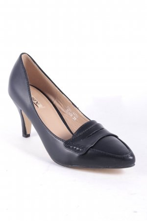 Jumex Spitz-Pumps schwarz Leder-Optik